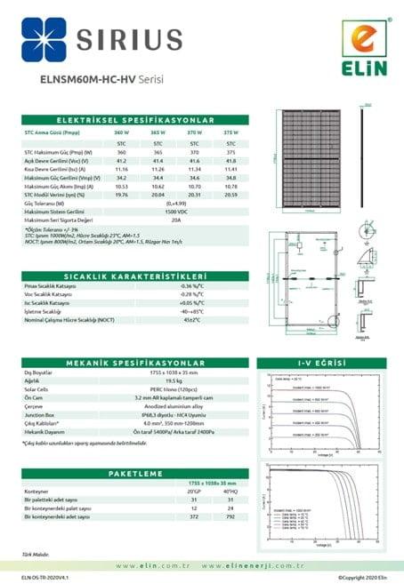 60 Hücreli Panel- 166mm Hücre-HC-Half Cut Örnekleri