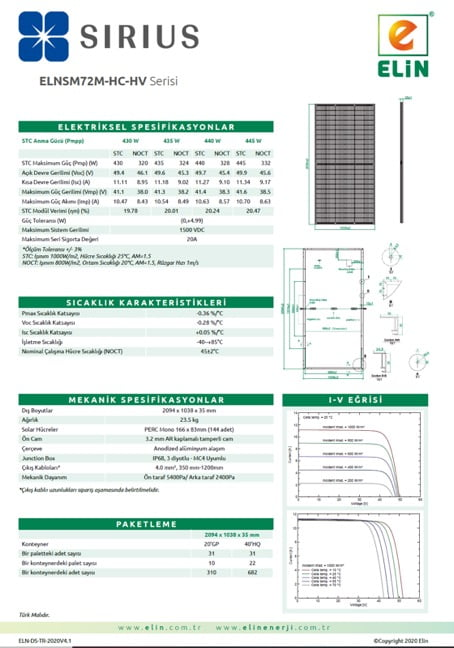 72 Hücreli Panel- 166mm Hücre-HC-Half-Cut Örnekleri