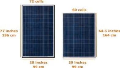 60 hücreli paneller ile 72 Hücreli Paneller