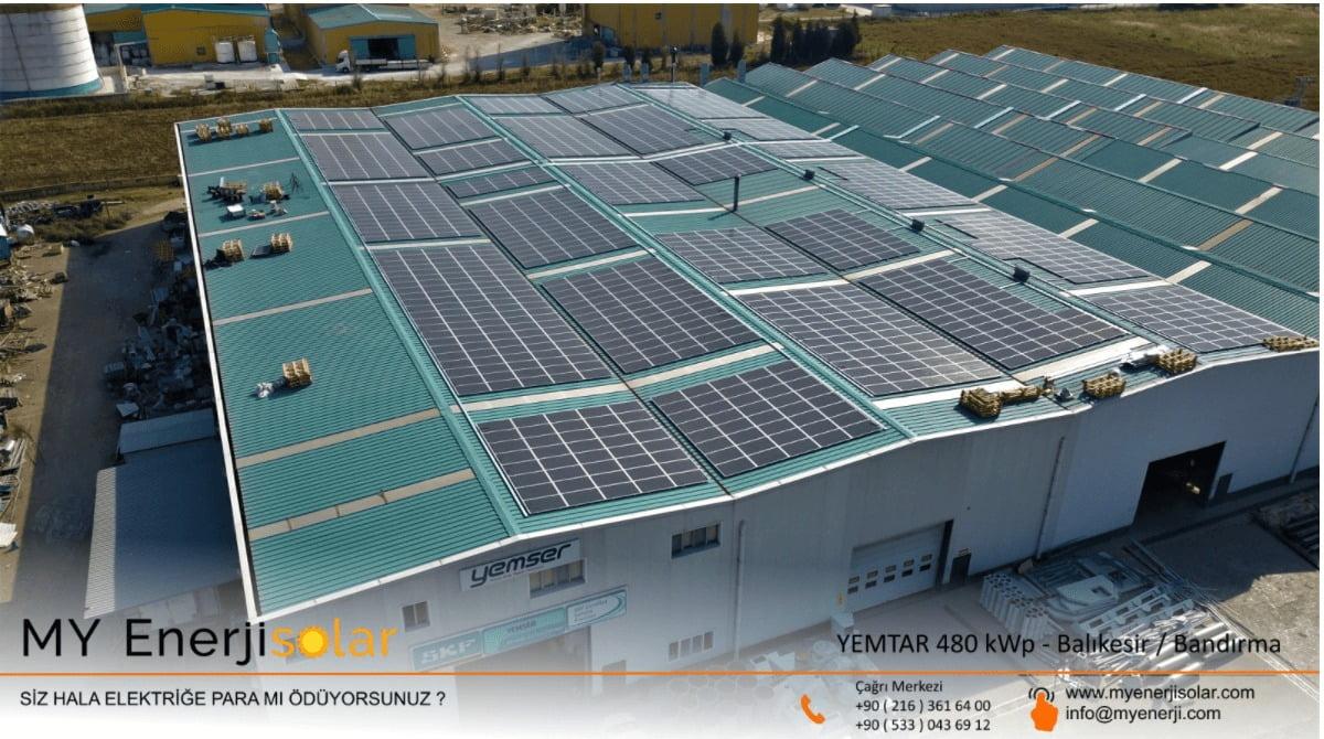 YEMTAR 480 kWp - Balıkesir / Bandırma