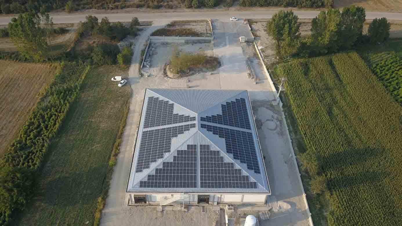 100 KW güneş enerji sistemi